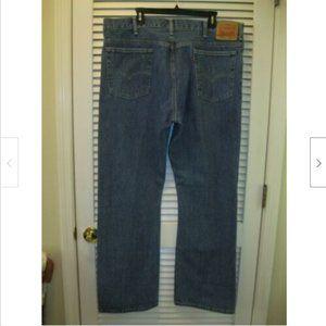Levis 517 Blue Jeans Tag Sz 40X32 Measures 42X34